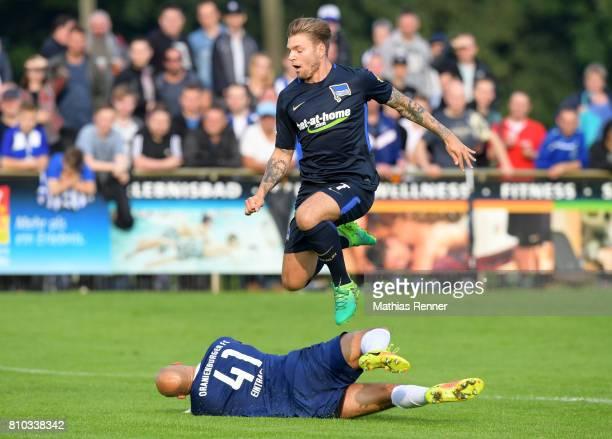 Alexander Esswein of Hertha BSC during the test match between Oranienburger FC Eintracht and Hertha BSC on july 7 2017 in Oranienburg Germany