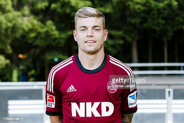 Alexander Esswein poses during the FC Nuernberg team presentation at Sportpark Valznerweiher on July 9 2013 in Nuremberg Germany