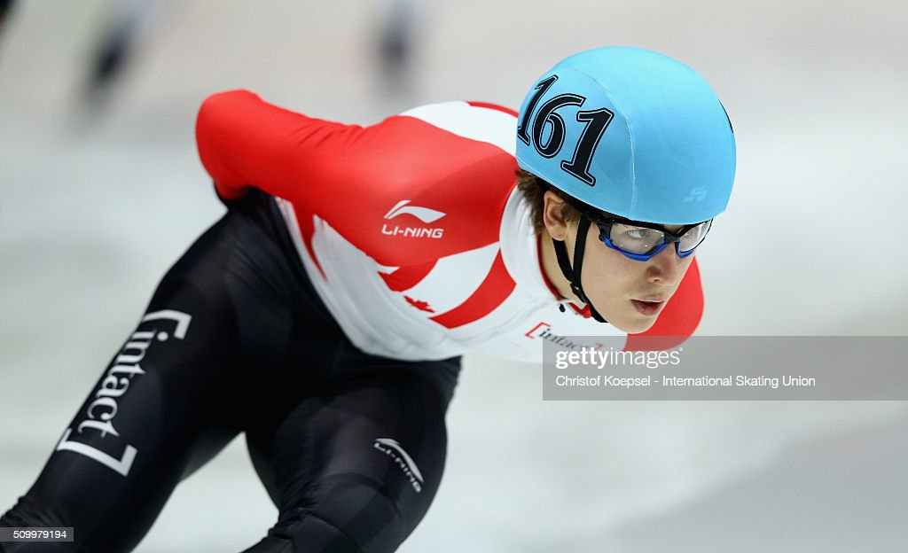 Alexander Fathoullin of Canada skates during the men 1500m final A during Day 2 of ISU Short Track World Cup at Sportboulevard on February 13, 2016 in Dordrecht, Netherlands.