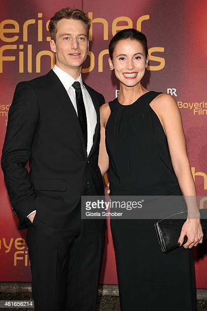 Alexander Fehling and Peri Bergmeister during the Bavarian Film Award 2015 on January 16 2015 in Munich Germany