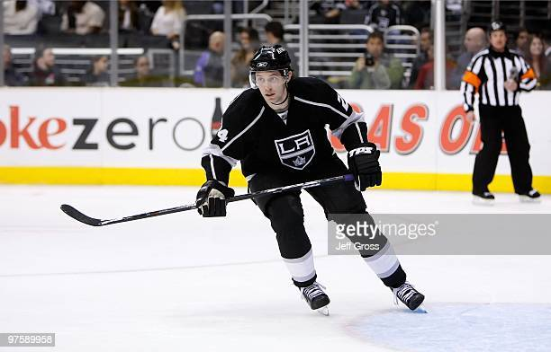 Alexander Frolov of the Los Angeles Kings skates against the San Jose Sharks at Staples Center on January 11 2010 in Los Angeles California
