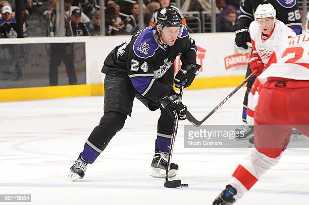Alexander Frolov of the Los Angeles Kings skates with the puck against the Detroit Red Wings on January 7 2010 at Staples Center in Los Angeles...