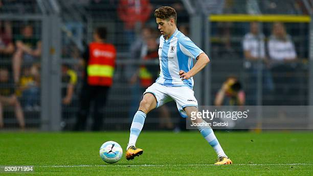 Alexander Fuchs of Muenchen during the German U19 Championship Semi Final First Leg match between Borussia Dortmund and 1860 Muenchen at Signal Iduna...