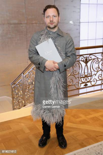 Alexander Fury attends the Dior cocktail party to celebrate the launch of Dior Catwalk by Alexander Fury on July 19 2017 in London England