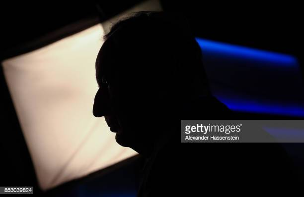 Alexander Gauland colead candidate of the Alternative for Germany is seen during the political party after the first announcement of the initial...