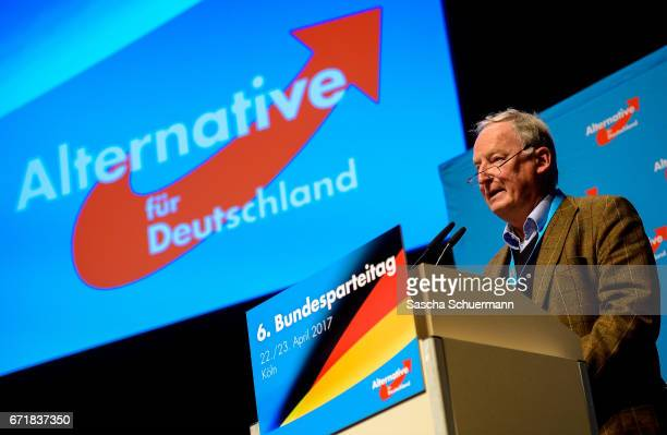 Alexander Gauland head of the AfD in Bandenburg after his nomination as campaign leaders of Germany's rightwing populist Alternative for Germany...