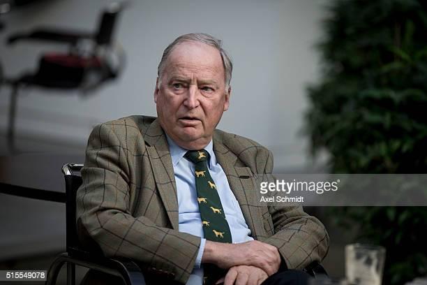 Alexander Gauland head of the Alternative fuer Deutschland political party in the state of Brandenburg sits in the Bundespressekonferenz lobby...