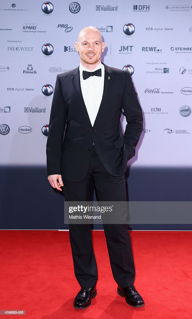 <a gi-track='captionPersonalityLinkClicked' href=/galleries/search?phrase=Alexander+Gerst&family=editorial&specificpeople=5862799 ng-click='$event.stopPropagation()'>Alexander Gerst</a> attends the German Sustainability Award (Deutscher Nachhaltigkeitspreis) on November 28, 2014 in Duesseldorf, Germany.