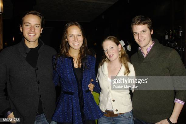 Alexander Gilkes Misha Nonoo Bettina Prentice and Jamie Prentice attend SUPER BOWL Party at The Oak Room on February 1 2009 in New York City