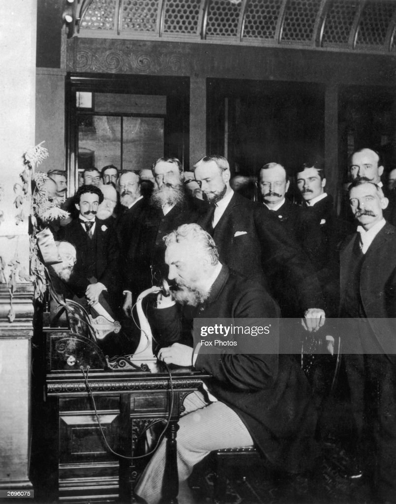 Image result for Alexander graham bell phone  getty images