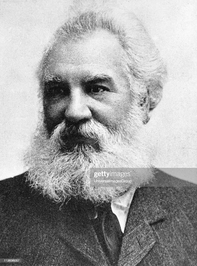 <a gi-track='captionPersonalityLinkClicked' href=/galleries/search?phrase=Alexander+Graham+Bell&family=editorial&specificpeople=114041 ng-click='$event.stopPropagation()'>Alexander Graham Bell</a> (1847-1922) Scottish-born American inventor: patented telephone 1876. Picture published 1907