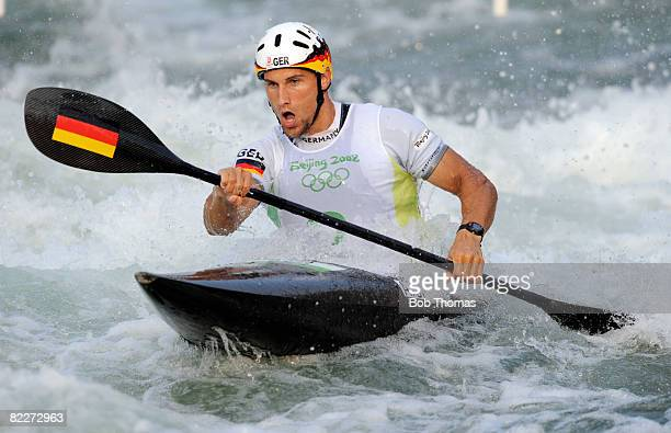 Alexander Grimm of Germany competes in the Kayak Men Final held at the Shunyi Olympic RowingCanoeing Park on Day 4 of the Beijing 2008 Olympic Games...