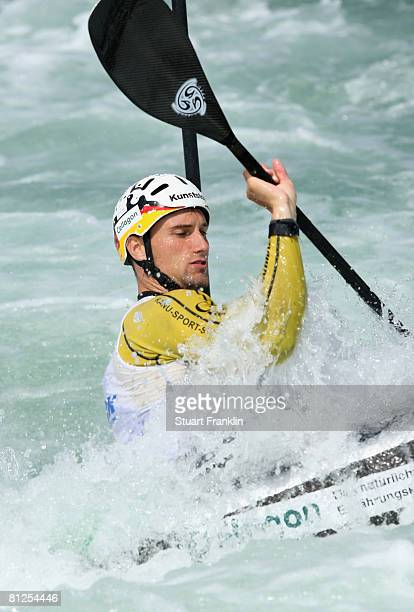 Alexander Grimm of Germany during training for the German Olympic canoeing team on May 27 2008 in Markkleeberg near Leipzig Germany