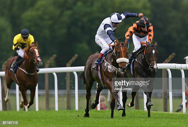 Alexander Gulch ridden by Darryll Holland beats Olympic Dream ridden by Tony Hamilton to win the Ronnie Senior 80th Birthday Maiden Stakes run at...