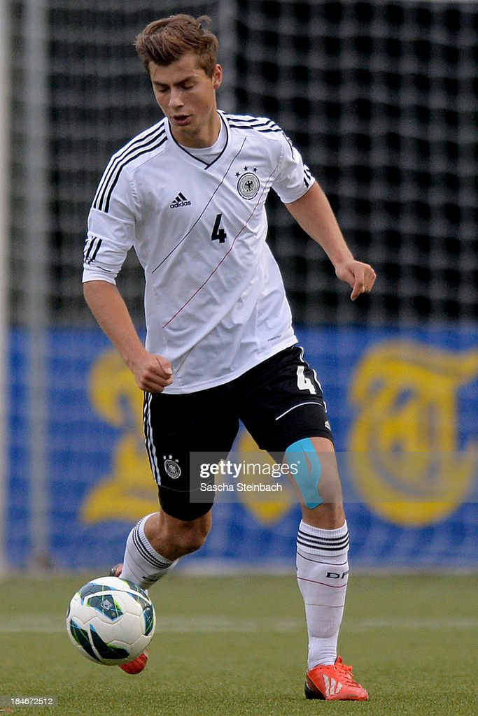 Alexander Hack of Germany runs with the ball during the U20 juniors tournament match between the Czech Republic and Germany on October 14, 2013 in Gemert, Netherlands.