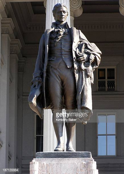 Alexander Hamilton statue by James Earle Fraser located at the United States Treasury Department at E Street and 15th Street in Washington DC