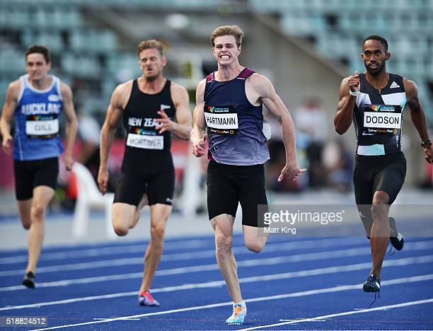 Alexander Hartmann competes in the Men's 200m final during the Australian Athletics Championships at Sydney Olympic Park on April 3 2016 in Sydney...