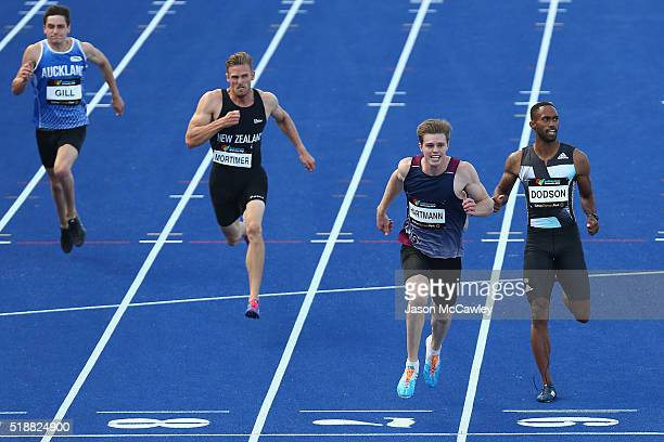Alexander Hartmann of Queensland competes in the mens 200m final during the Australian Athletics Championships at Sydney Olympic Park on April 3 2016...