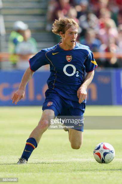 Alexander Hleb of Arsenal during the preseason friendly match between Barnet FC and Arsenal at Underhill Stadium on July 16 2005 in Barnet London