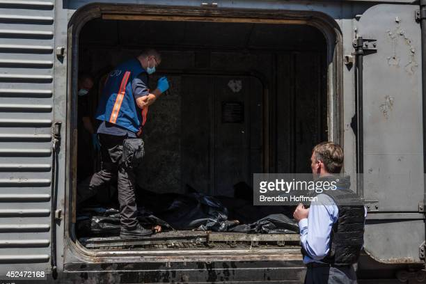 Alexander Hug Deputy Chief Monitor of the Organisation for Security and Cooperation in Europe Special Monitoring Mission to Ukraine visits a train...
