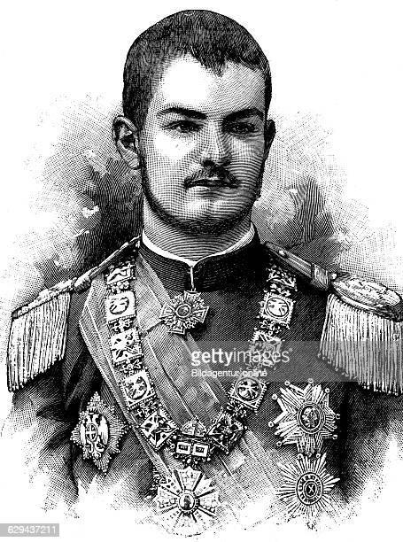 Alexander i king of serbia aleksandar obrenovi 1876 1903 historical illustration circa 1893