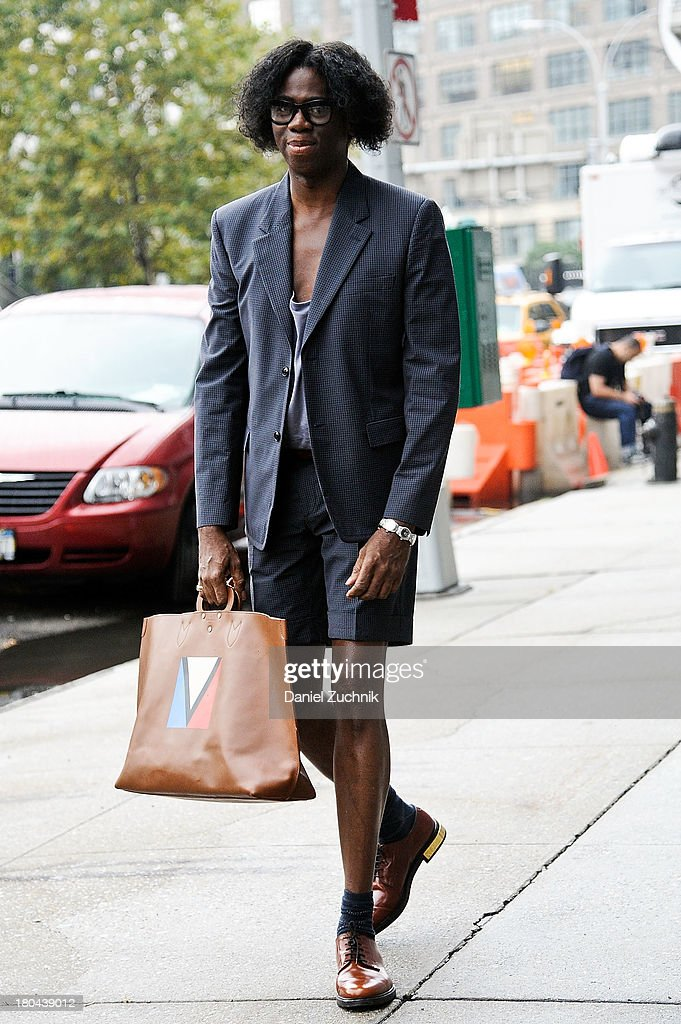 <a gi-track='captionPersonalityLinkClicked' href=/galleries/search?phrase=J.+Alexander&family=editorial&specificpeople=698504 ng-click='$event.stopPropagation()'>J. Alexander</a> is seen outside the Calvin Klein show on September 12, 2013 in New York City.