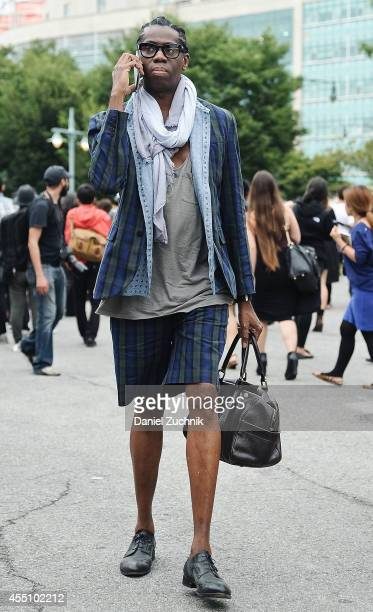 J Alexander is seen outside the Marc by Marc Jacobs show on September 9 2014 in New York City