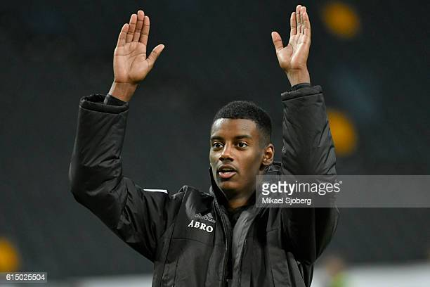 Alexander Isak of AIK after the allsvenskan match between AIK and Ostersunds FK at Friends arena on October 16 2016 in Solna Sweden