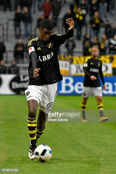 Alexander Isak of AIK during the allsvenskan match between AIK and Ostersunds FK at Friends arena on October 16 2016 in Solna Sweden