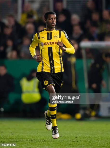 Alexander Isak of Borussia Dortmund after entering his first match for the club during the DFB Cup Quarter Final match between Sportfreunde Lotte and...