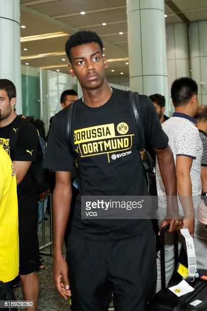 Alexander Isak of Borussia Dortmund arrives at Guangzhou Baiyun International Airport on July 17 2017 in Guangzhou China