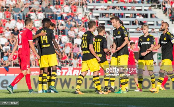 Alexander Isak of Borussia Dortmund celebrates after scoring the goal to the 25 together with the team during the preseason friendly match between...