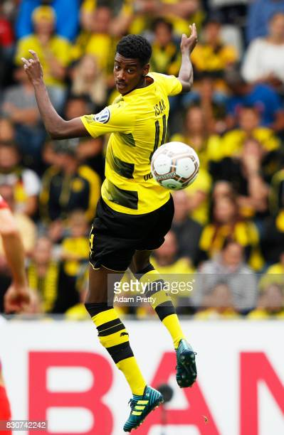 Alexander Isak of Borussia Dortmund in action during the DFB Cup match between 1 FC RielasingenArlen and Borussia Dortmund at SchwarzwaldStadion on...