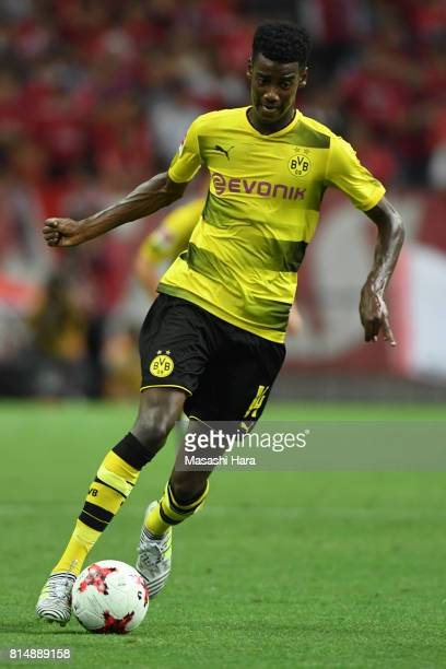 Alexander Isak of Borussia Dortmund in action during the preseason friendly match between Urawa Red Diamonds and Borussia Dortmund at Saitama Stadium...