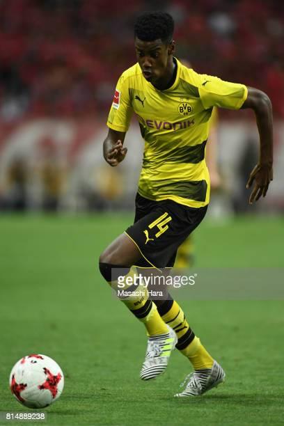 Alexander Isak of Borussia Dortmund in action during the preseason friendly match between Urawa Red Diamonds and Borussia Dortmund at Saitama Stadium...