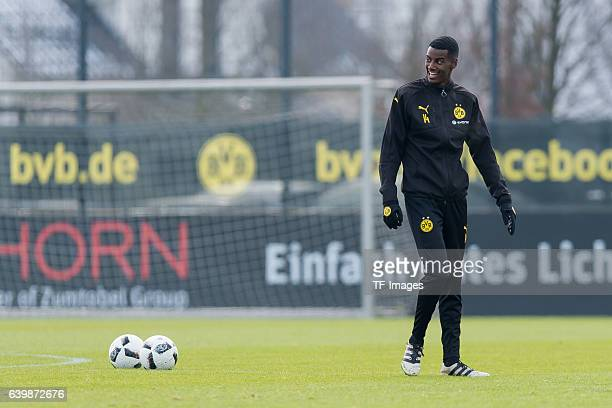 Alexander Isak of Borussia Dortmund looks on during a training session at the BVB Training center on January 25 2017 in Dortmund Germany