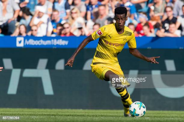 Alexander Isak of Dortmund controls the ball during the preseason friendly match between VfL Bochum and Borussia Dortmund at Vonovia Ruhrstadion on...