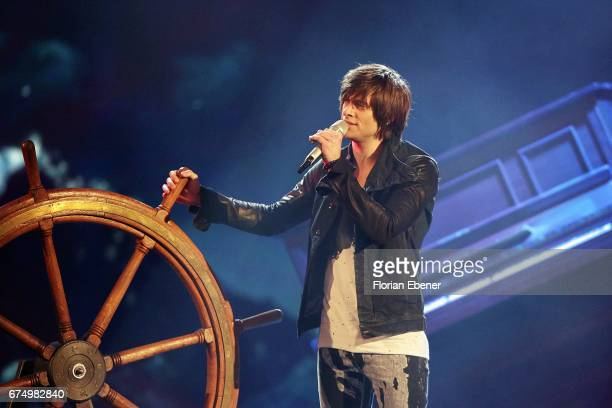 Alexander Jahnke during the fourth event show and semi finals of the tv competition 'Deutschland sucht den Superstar' at Coloneum on April 29 2017 in...