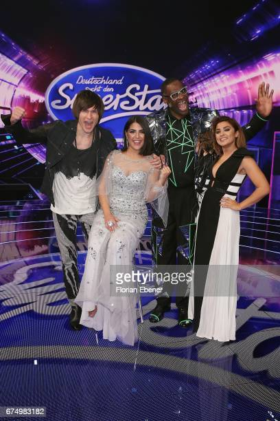 Alexander Jahnke Duygu Goenel Alphonso Williams and Maria Voskania during the fourth event show and semi finals of the tv competition 'Deutschland...