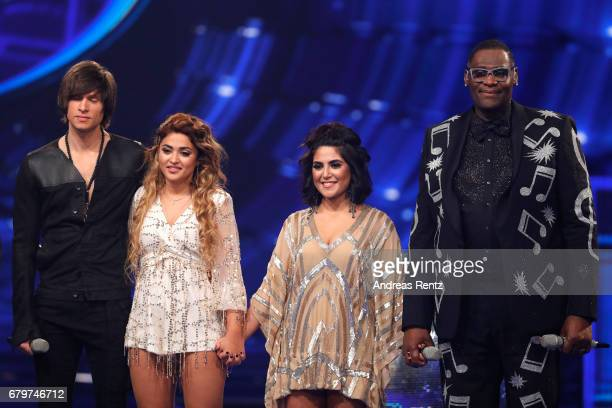 Alexander Jahnke Maria Voskania Duygu Goenel and Alphonso Williams during the finals of the tv competition 'Deutschland sucht den Superstar' at...