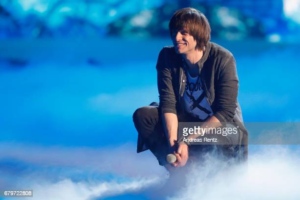 Alexander Jahnke performs during the finals of the tv competition 'Deutschland sucht den Superstar' at Coloneum on May 6 2017 in Cologne Germany