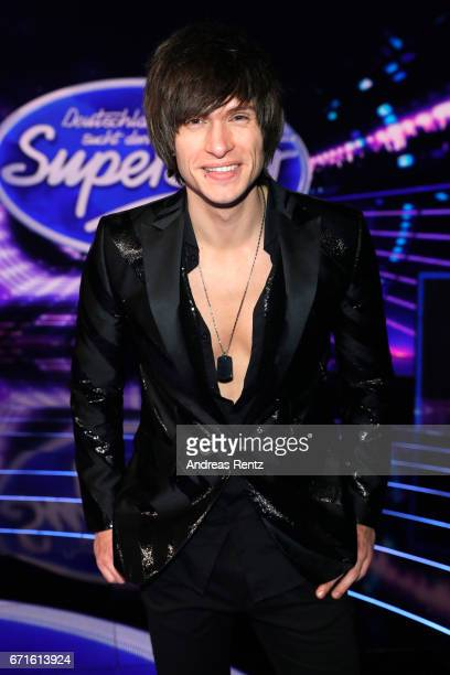 Alexander Jahnke poses after the third event show of the tv competition 'Deutschland sucht den Superstar' at Coloneum on April 22 2017 in Cologne...
