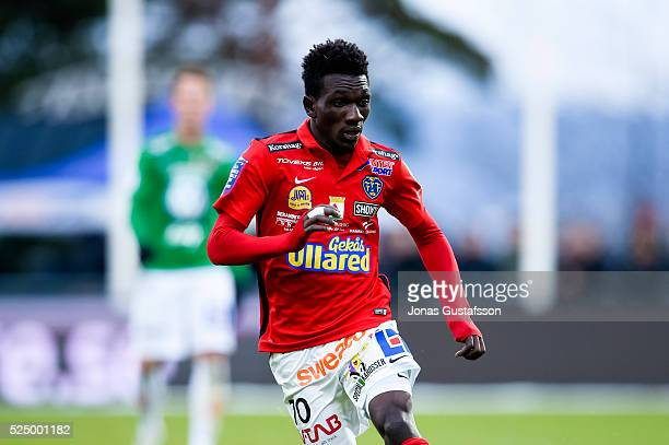Alexander Jakobsen of Falkenberg during the allsvenskan match between Jonkopings Sodra IF and Falkenbergs FF at Stadsparksvallen on April 27 2016 in...