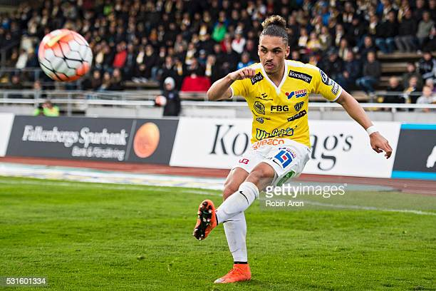 Alexander Jakobsen of Falkenberg during the Allsvenskan match between Falkenbergs FF and BK Hacken at Falkenbergs IP on May 15 2016 in Falkenberg...