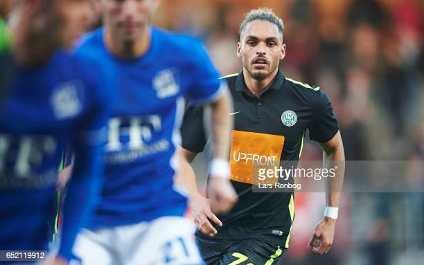 Alexander Jakobsen of Viborg FF in action during the Danish Alka Superliga match between Lyngby BK and Viborg FF at Lyngby Stadion on March 11 2017...