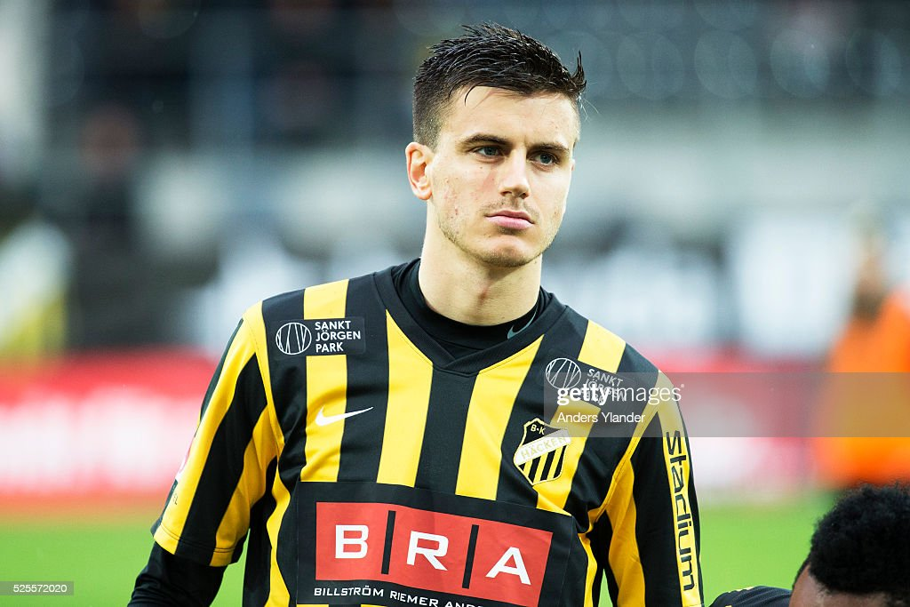Alexander Jeremejeff of BK Hacken during the Allsvenskan match between BK Hacken and Gefle IF at Bravida Arena on April 28, 2016 in Gothenburg, Sweden.