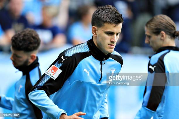 Alexander Jeremejeff of Malmo FF during the Allsvenskan match between Malmo FF and Kalmar FF at Swedbank Stadion on August 11 2017 in Malmo Sweden