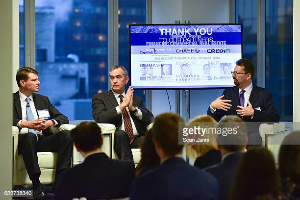 Alexander Joerg Jerome Sanzo and Mark S Edelstein attend The Commercial Observer Financing Commercial Real Estate at 666 Fifth Avenue on November 15...