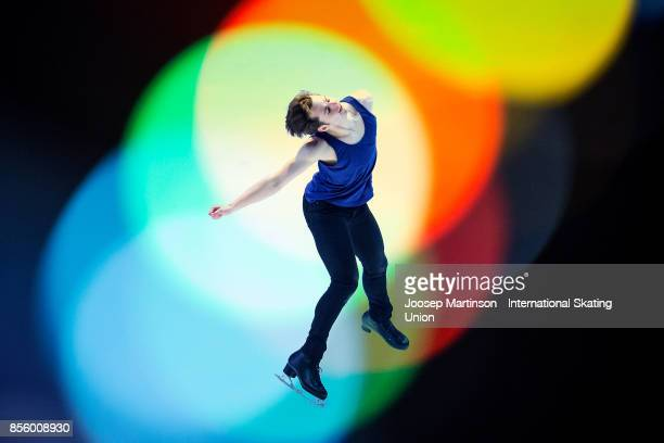 Alexander Johnson of the United States performs in the Gala Exhibition during the Nebelhorn Trophy 2017 at Eissportzentrum on September 30 2017 in...