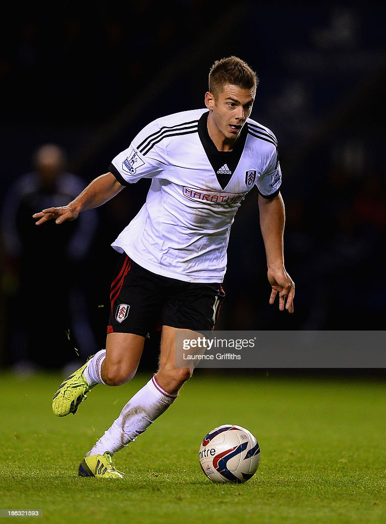 Alexander Kacaniklic of Fulham in action during the Capital One Fourth Round match between Leicester City and Fulham at The King Power Stadium on October 29, 2013 in Leicester, England.